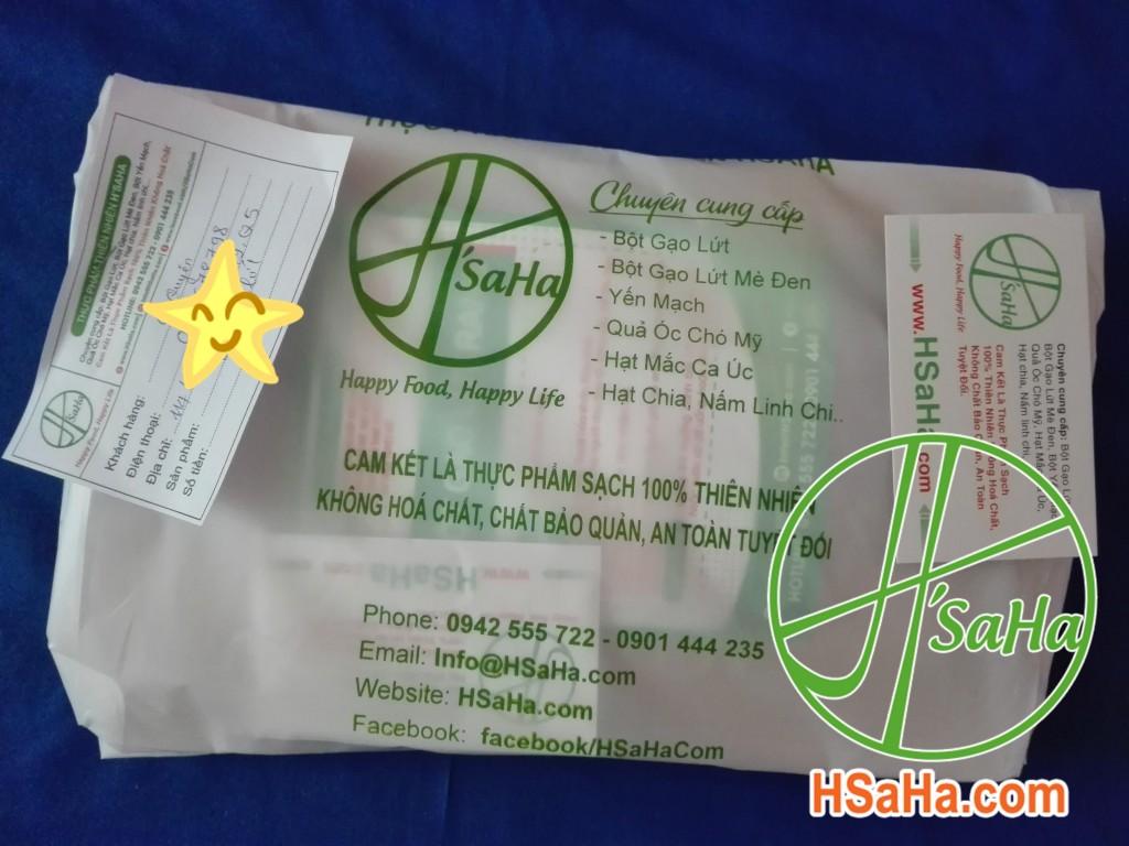 Giao 0,5 Kg Bột Gạo Lứt Hsaha Đến Quận 5 Cho Chị Trang
