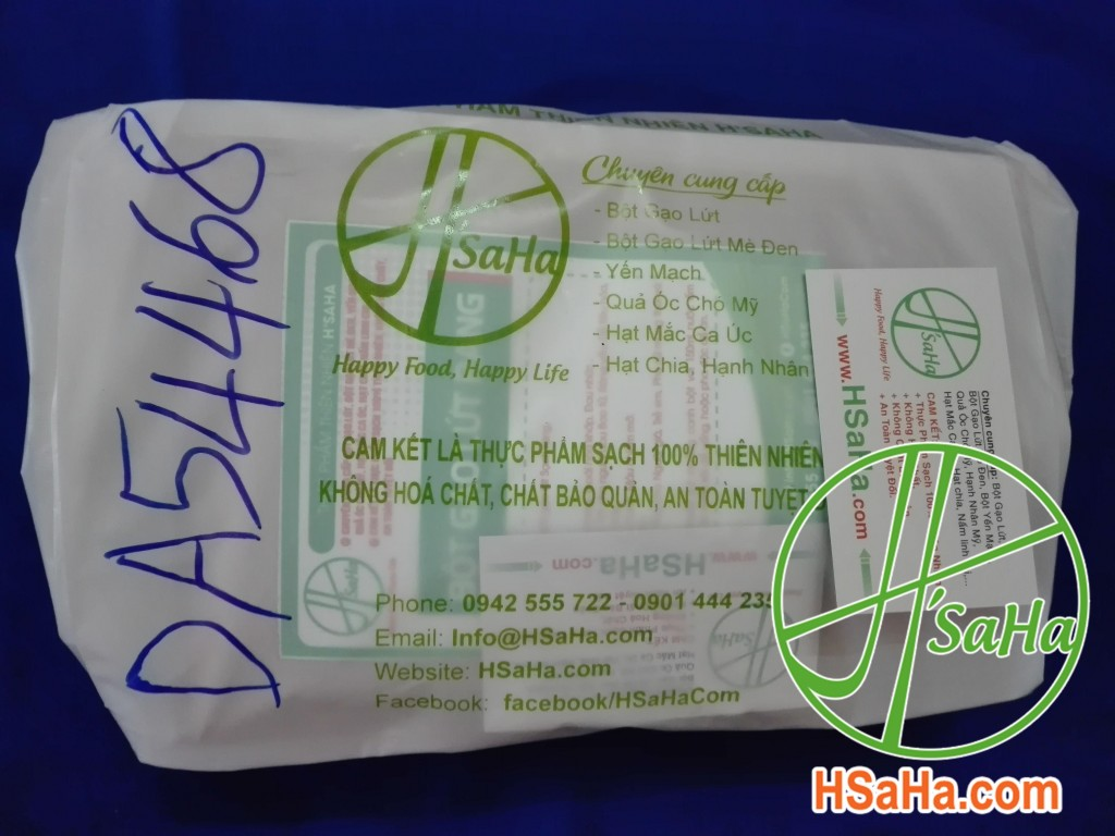 Giao 1 Kg Bột Gạo Lứt Rang Hsaha Đến Quận 6 Cho Chị Ngân