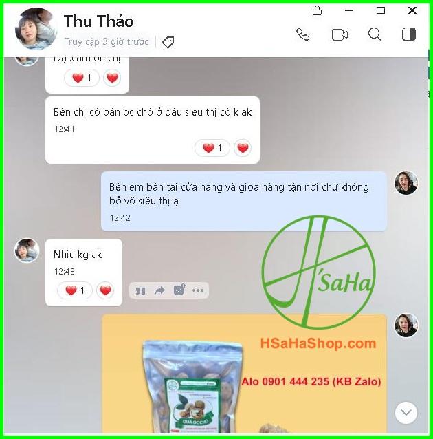 Chị Thảo ở quận 9 mua quả óc chó của HSaHa